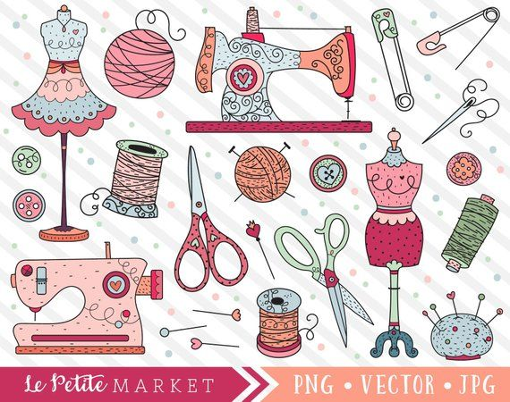 Diy clipart clip transparent Seamstress Clipart Images, Cute Sewing Clip Art, Sewing and Knitting ... clip transparent