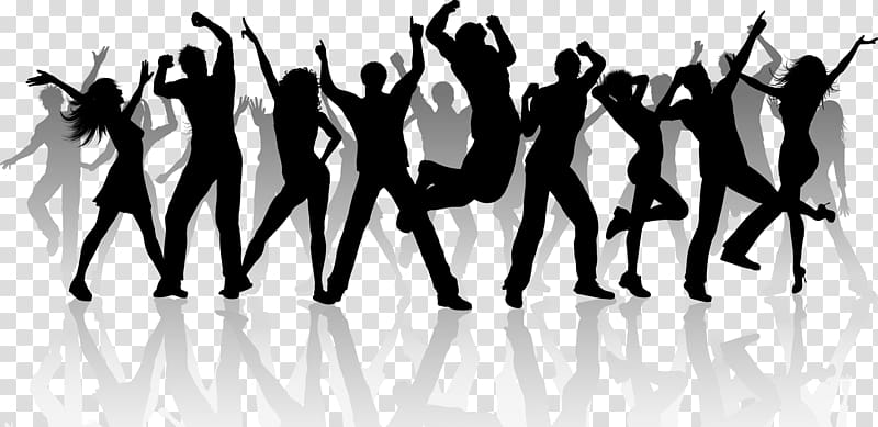 Dj dance clipart picture freeuse download Silhouette of dancing people, Dance Silhouette , DJ transparent ... picture freeuse download