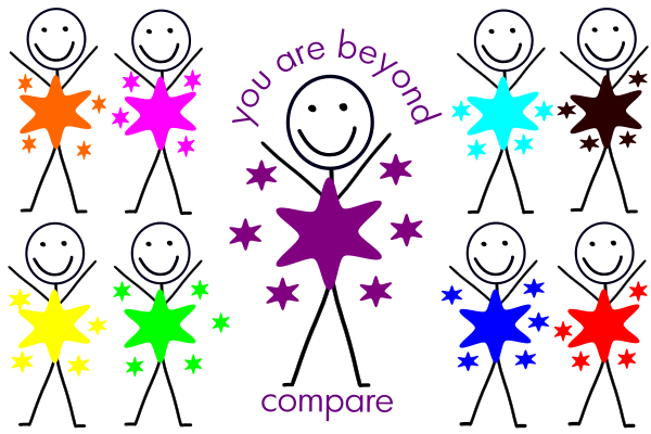 Do not compare yourself to others clipart