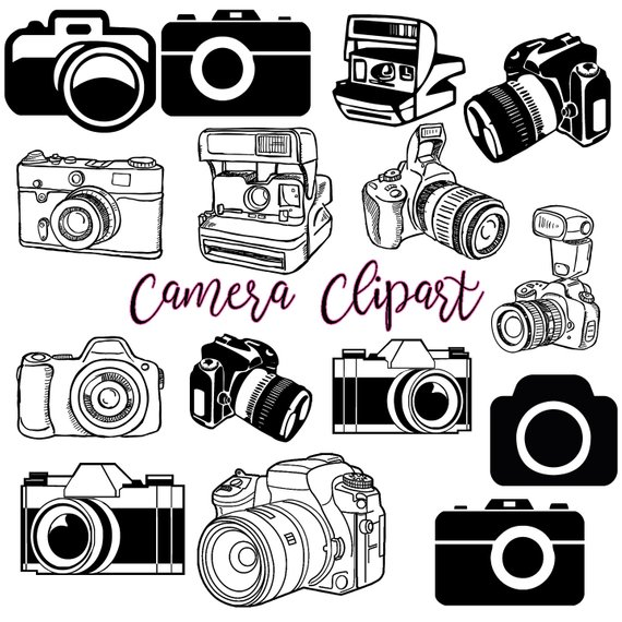 Video camera clipart jpeg clipart library download Camera Clipart #1, Photography Clip Art Logo Elements, Stamps, Retro ... clipart library download