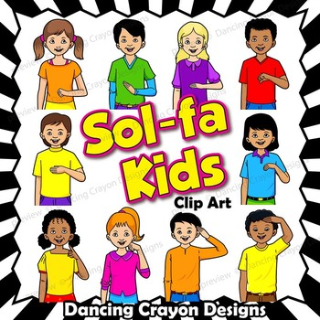 Do re mi so la clipart banner free stock Kids Solfa Hand Sign Clip Art | Kodaly Curwen Hand Signs banner free stock