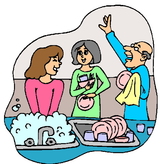 Do the washing up clipart