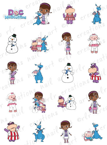 Doc character clipart banner 20 NAIL DECALS * DOC MCSTUFFINS * CHARACTER THEMED WATER SLIDE ... banner