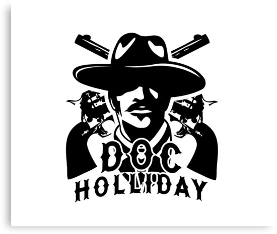 Doc holliday clipart image black and white library \'Doc Holiday \' Canvas Print by coltonbarry image black and white library