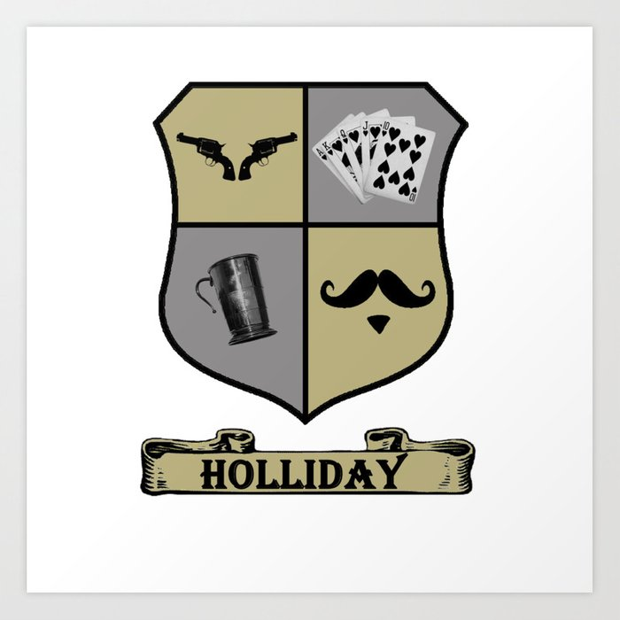 Doc holliday clipart graphic free download Doc Holliday Coat of Arms Art Print graphic free download