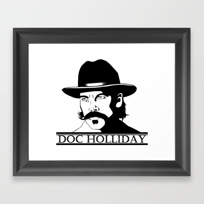 Doc holliday clipart clipart free download Doc Holliday Framed Art Print by apdrea clipart free download