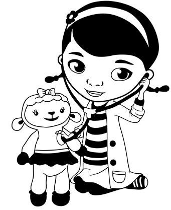 Doc mcstuffin car character clipart picture black and white download Doc McStuffins Black Car Truck VINYL Decal Art Wall Sticker USA 6 ... picture black and white download