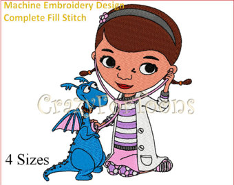 Doc mcstuffin stuffy character clipart. Mcstuffins patch etsy embroidery