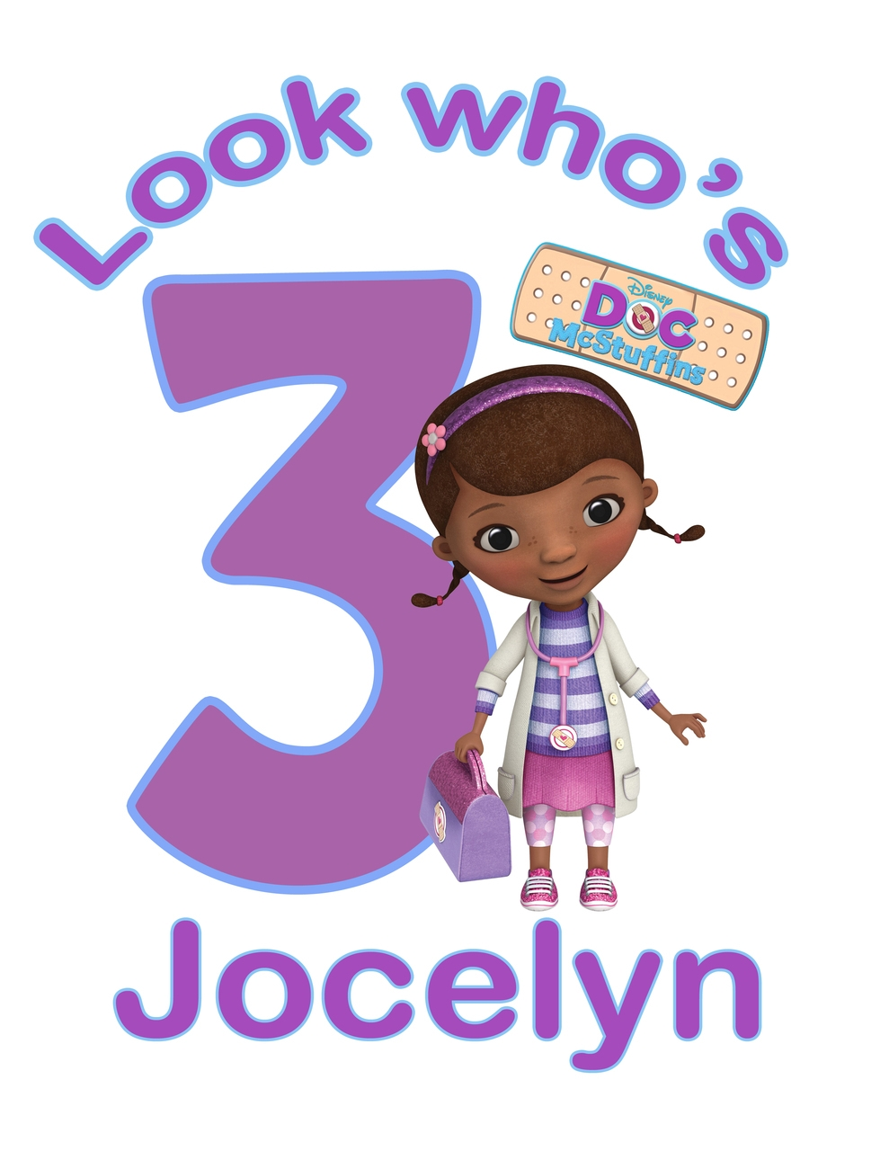 Doc mcstuffins 1st birthday clipart graphic free stock Doc mcstuffins 3rd birthday clipart - ClipartFest graphic free stock