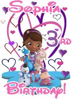 Doc mcstuffins 1st birthday clipart jpg freeuse stock Doc McStuffins SISTER of Birthday Girl Printable Iron On Transfer ... jpg freeuse stock