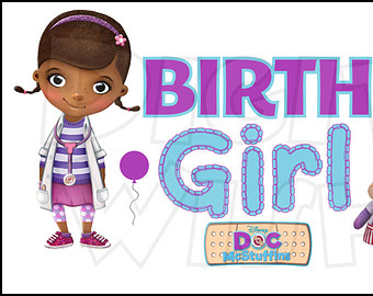 Doc mcstuffins 1st birthday clipart. Sign etsy girl digital
