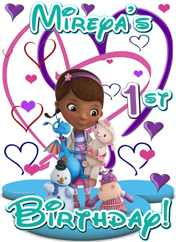 Doc mcstuffins 1st birthday clipart image black and white download Gallery For > Doc McStuffins 1st Birthday Clipart image black and white download