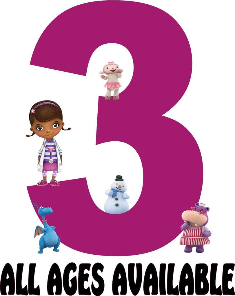 Nd clipartfest . Doc mcstuffins 3rd birthday clipart