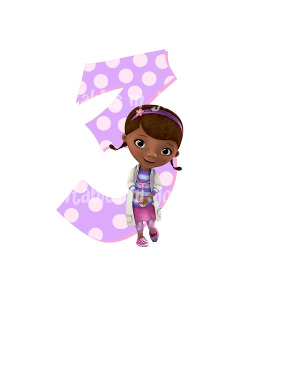 Doc mcstuffins 3rd birthday clipart.  best images about