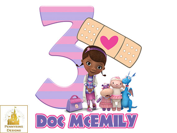 best images about. Doc mcstuffins 3rd birthday clipart