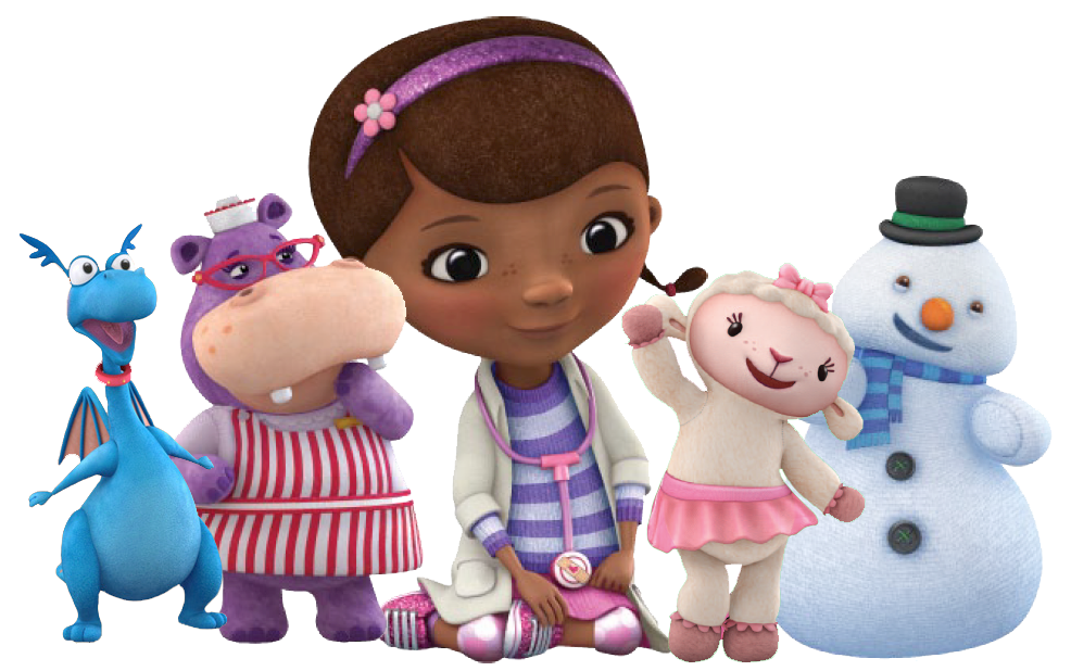 Doc mcstuffins and friends clipart free mcstuffinsgroup.png (986×618) | Doctora juguetes candy bar ... free