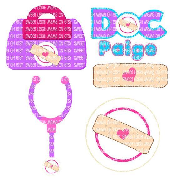 Birthday party diy customize. Doc mcstuffins bag clipart