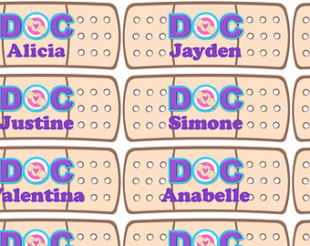 Doc mcstuffins bandaid clipart clipart transparent library Band aid printable | Etsy clipart transparent library