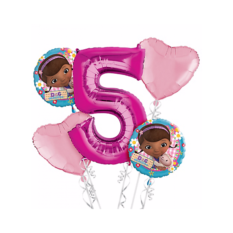 Doc mcstuffins birthday clipart graphic freeuse Doc McStuffins 5th Birthday Balloon Bouquet 5pc graphic freeuse