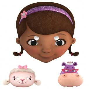 Character masks doctors medical. Doc mcstuffins face clipart