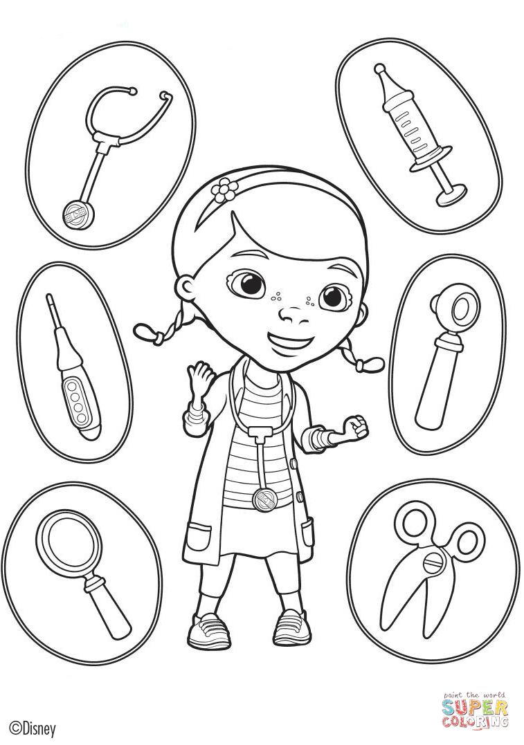 Doc mcstuffins tools clipart jpg Doc McStuffins' Tools coloring page | Free Printable Coloring Pages jpg