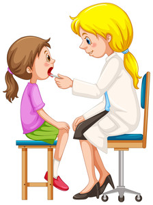 Doctor check up clipart jpg library library Doctor checking up the girl illustration Royalty-Free Stock Image ... jpg library library