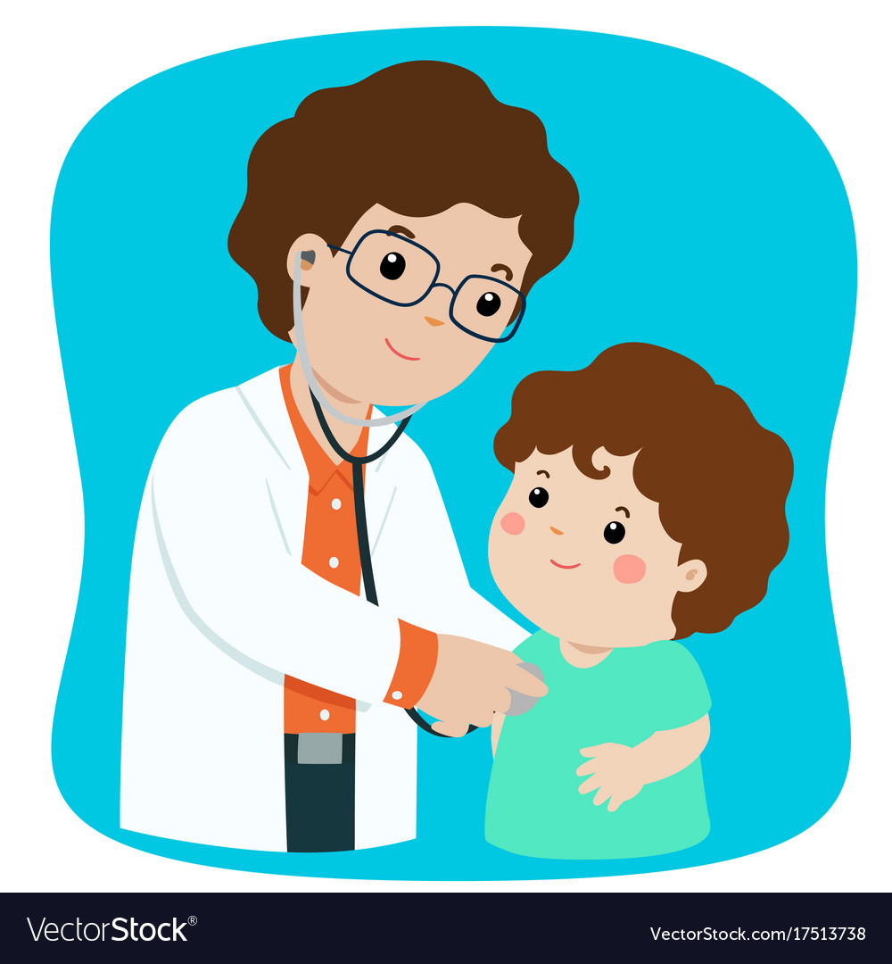 Doctor check up clipart freeuse download Xalittle boy on medical check up with male freeuse download