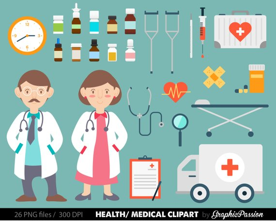 Doctor hospital clipart graphic black and white download Health clipart Medical Clipart Doctor clipart Nurse image Hospital ... graphic black and white download