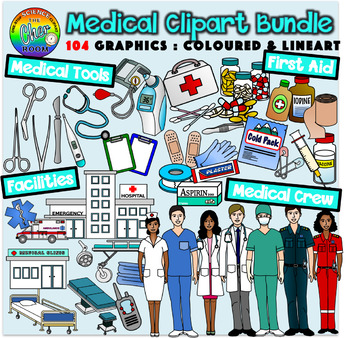 Doctor hospital clipart jpg royalty free download Medical Clipart Bundle (Hospital, Clinic, Doctor, Surgeon) jpg royalty free download