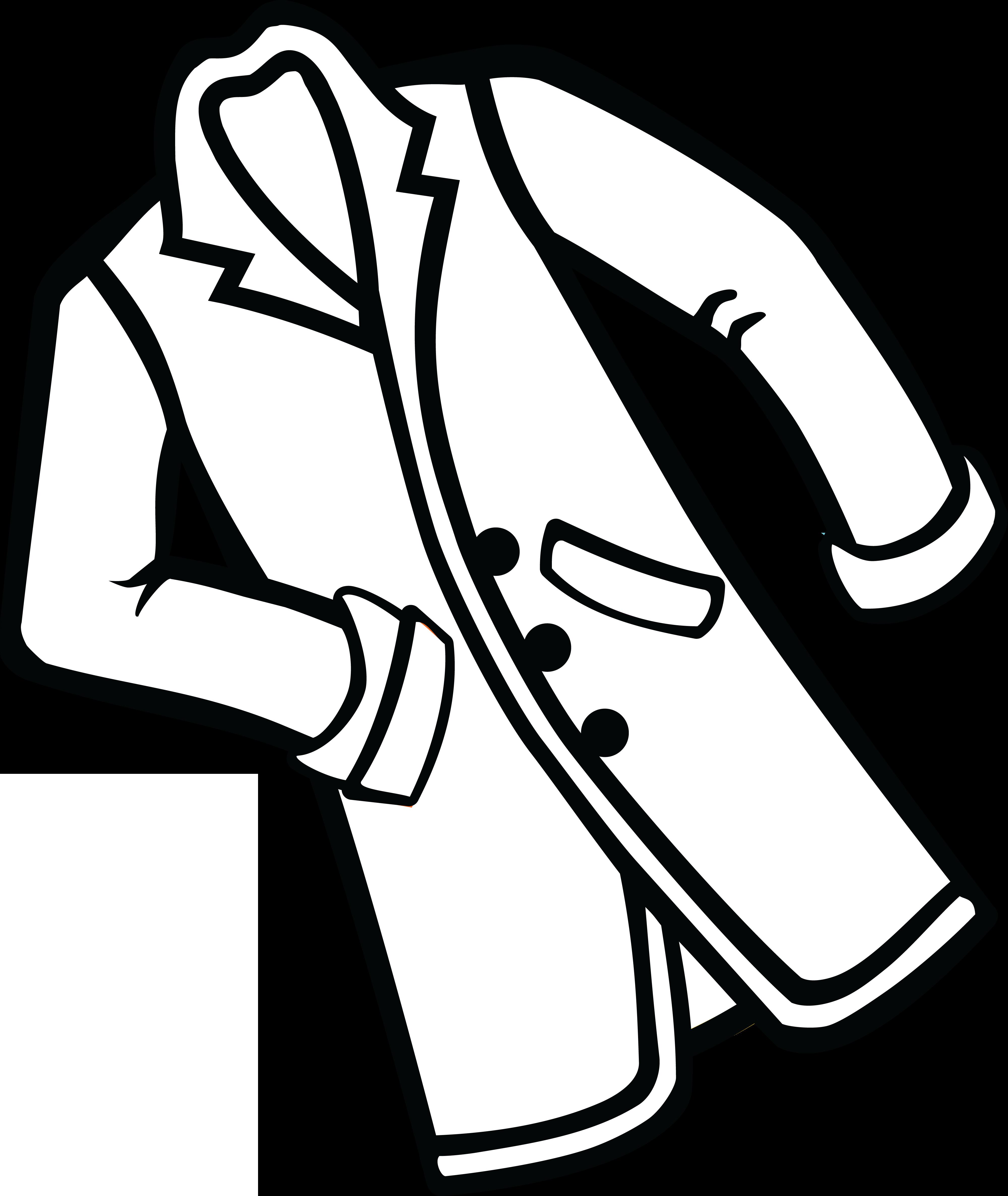 Jacket clipart black and white banner freeuse Clipart doctor white coat, Clipart doctor white coat Transparent ... banner freeuse