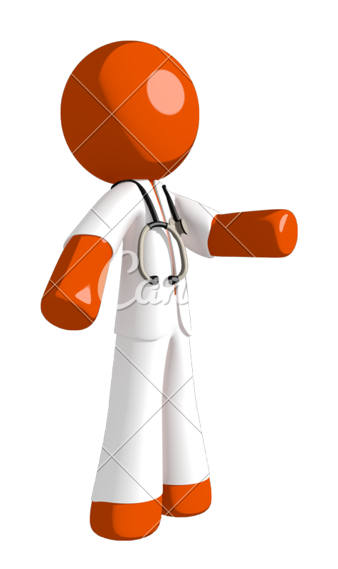 Doctor playing basketball clipart png library library Orange Man Doctor Gesturing Right - Photos by Canva png library library
