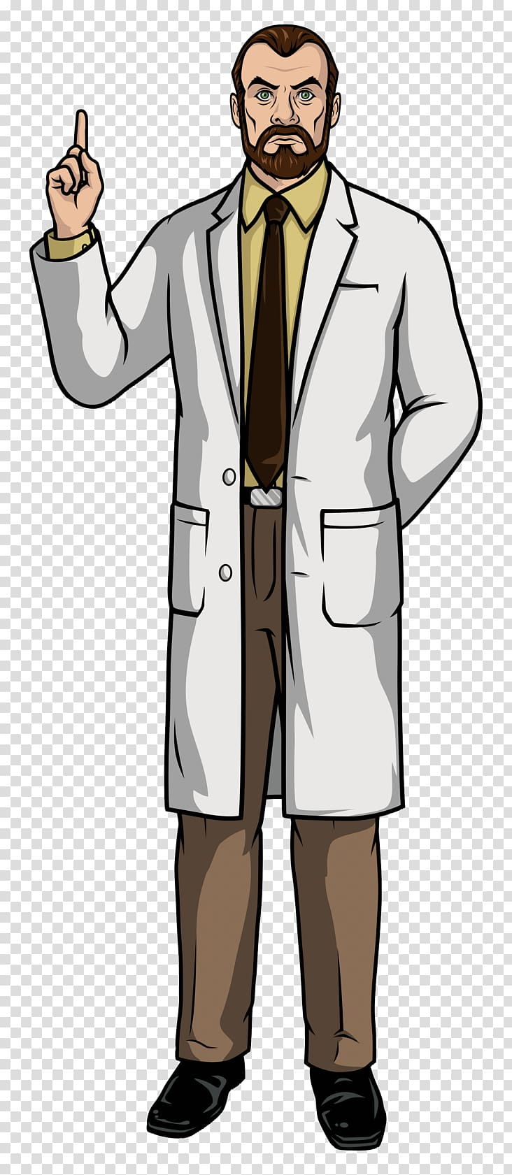 Doctor suit clipart graphic transparent download Lucky Yates Dr Krieger Sterling Archer Doctor, archer transparent ... graphic transparent download