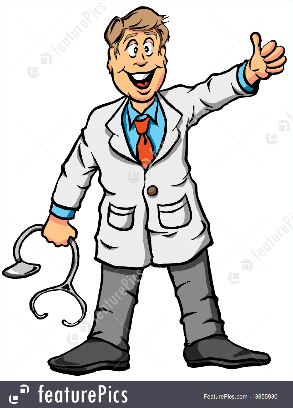 Illustration vector of a. Doctor thumbs up clipart