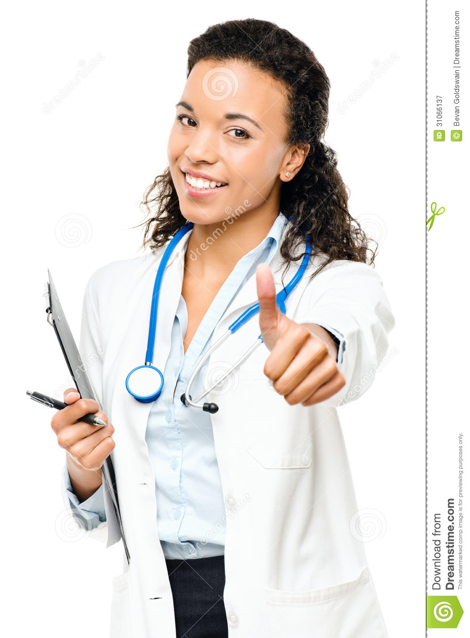 African american isolated on. Doctor thumbs up clipart