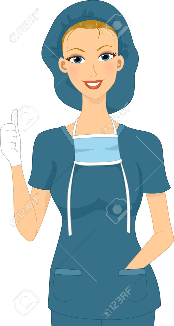 Doctor thumbs up clipart jpg freeuse download Illustration Of A Surgeon Giving A Thumbs Up Stock Photo, Picture ... jpg freeuse download