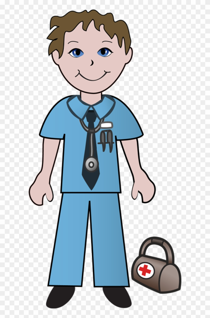 Doctor with babgy clipart transparent background clip art black and white stock Free - Clipart - Young - Doctor - Young - Young - Young - Doctor ... clip art black and white stock
