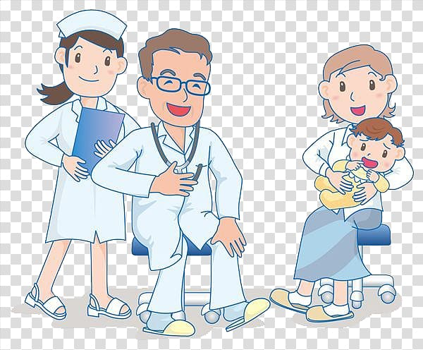 Doctor with babgy clipart transparent background clip black and white library Crying Infant Drawing Child Mother, Mother gave the baby to see a ... clip black and white library