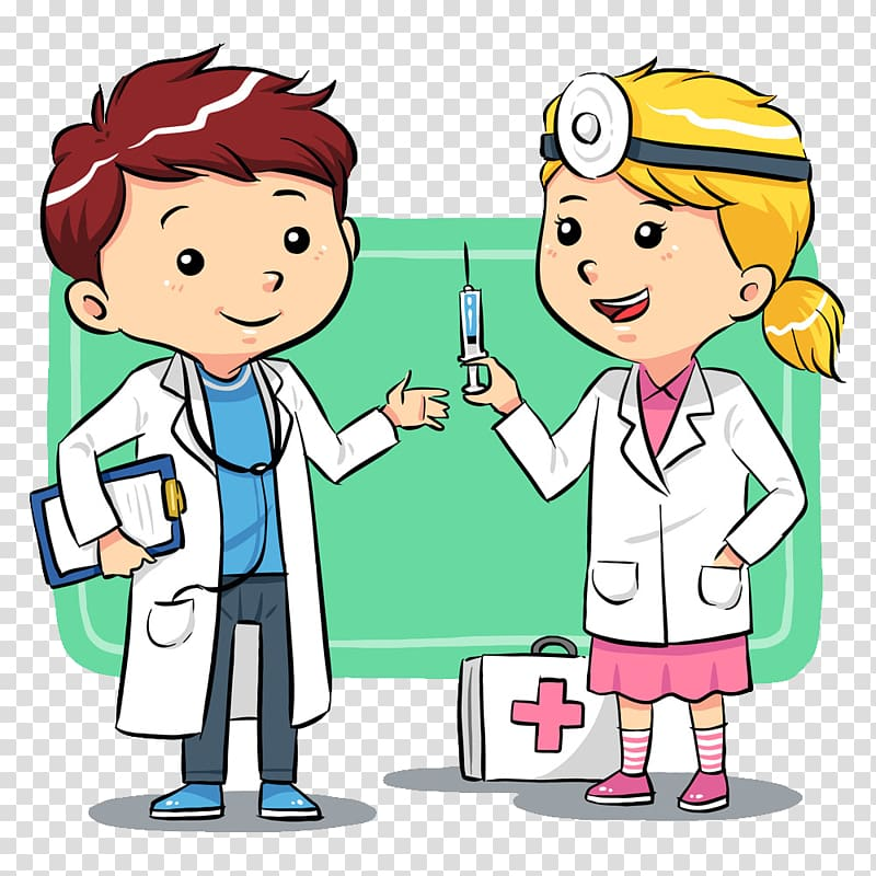Doctor with babgy clipart transparent background free download Cartoon Physician , Doctor cartoon illustration transparent ... free download