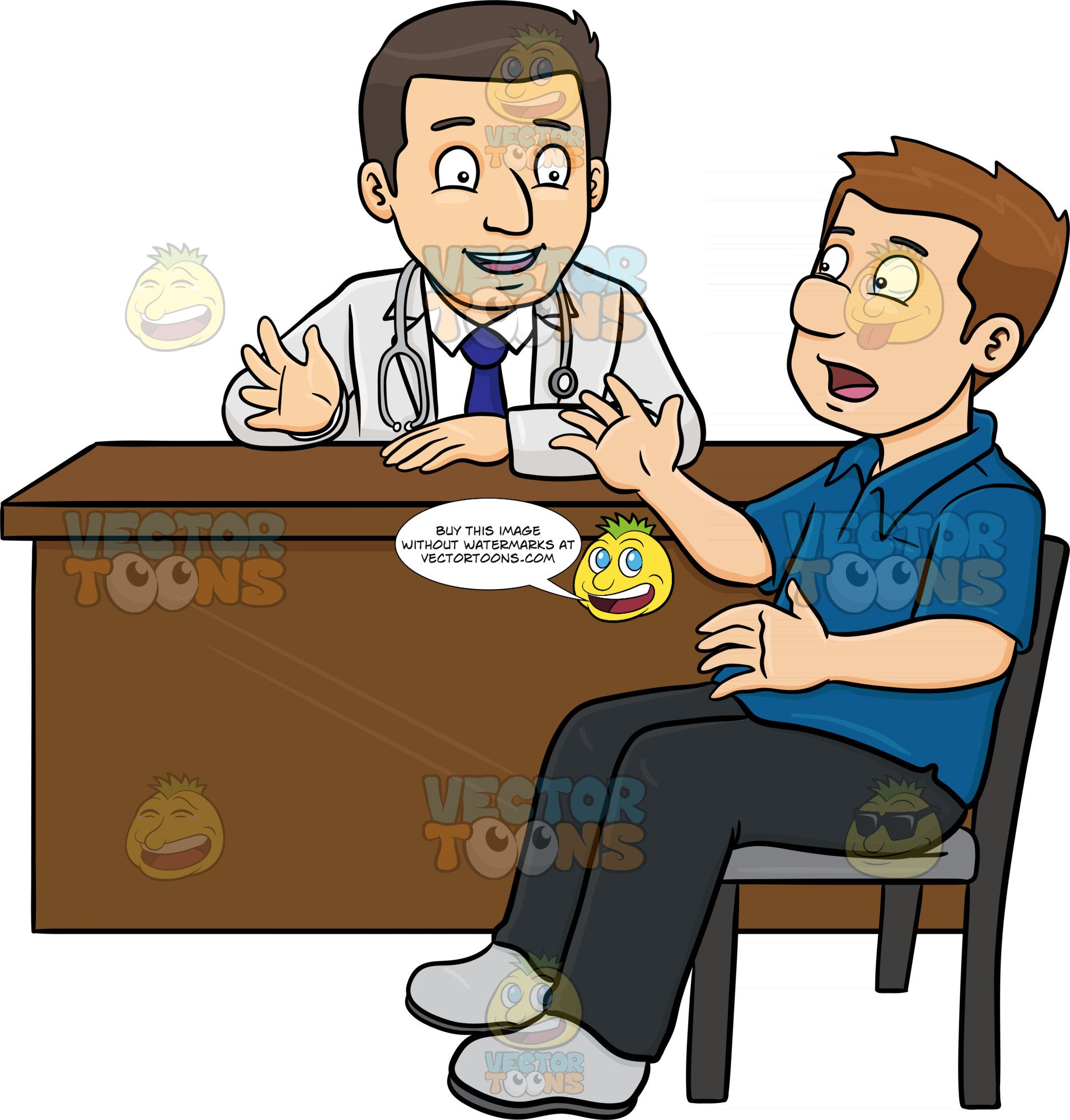 Doctor with patient clipart jpg A Doctor Chatting With His Male Patient In The Consultation Room jpg