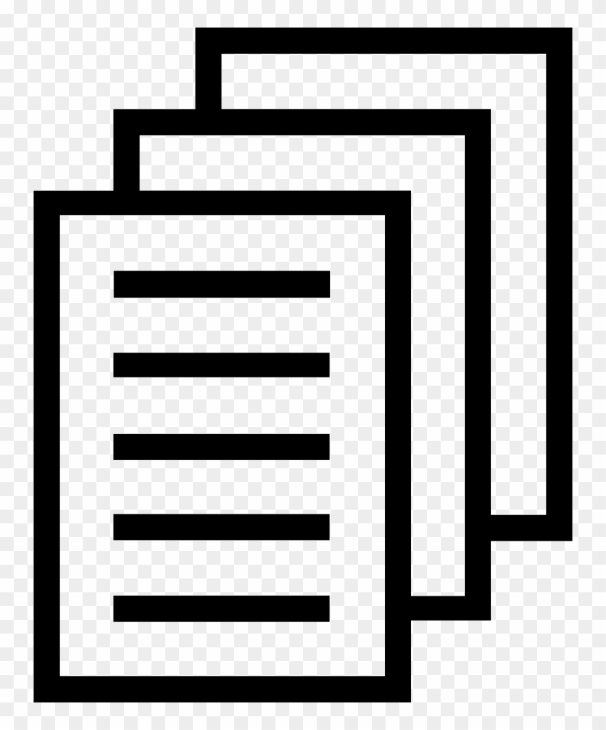 Paper transparent clipart svg transparent library Document Clipart Stack Papers - File Stack Icon Png Transparent Png ... svg transparent library