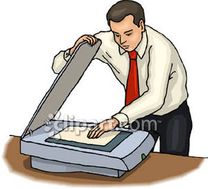 Document scanning clipart