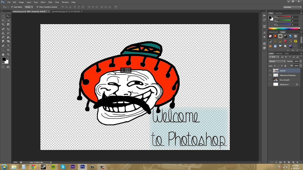 Norma group clipart png transparent download Photoshop CS6 Tutorial - 9 - Inserting Images png transparent download