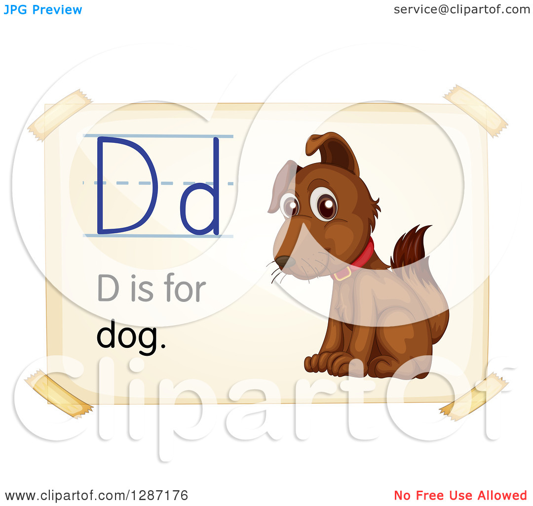 Dog alphabet clipart. Clipartfest of a brown
