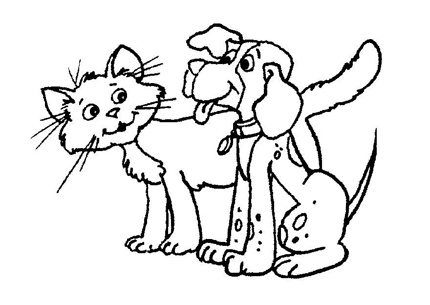 Dog and cat black and white clipart banner free stock Dog and cat clipart black and white 3 » Clipart Station banner free stock