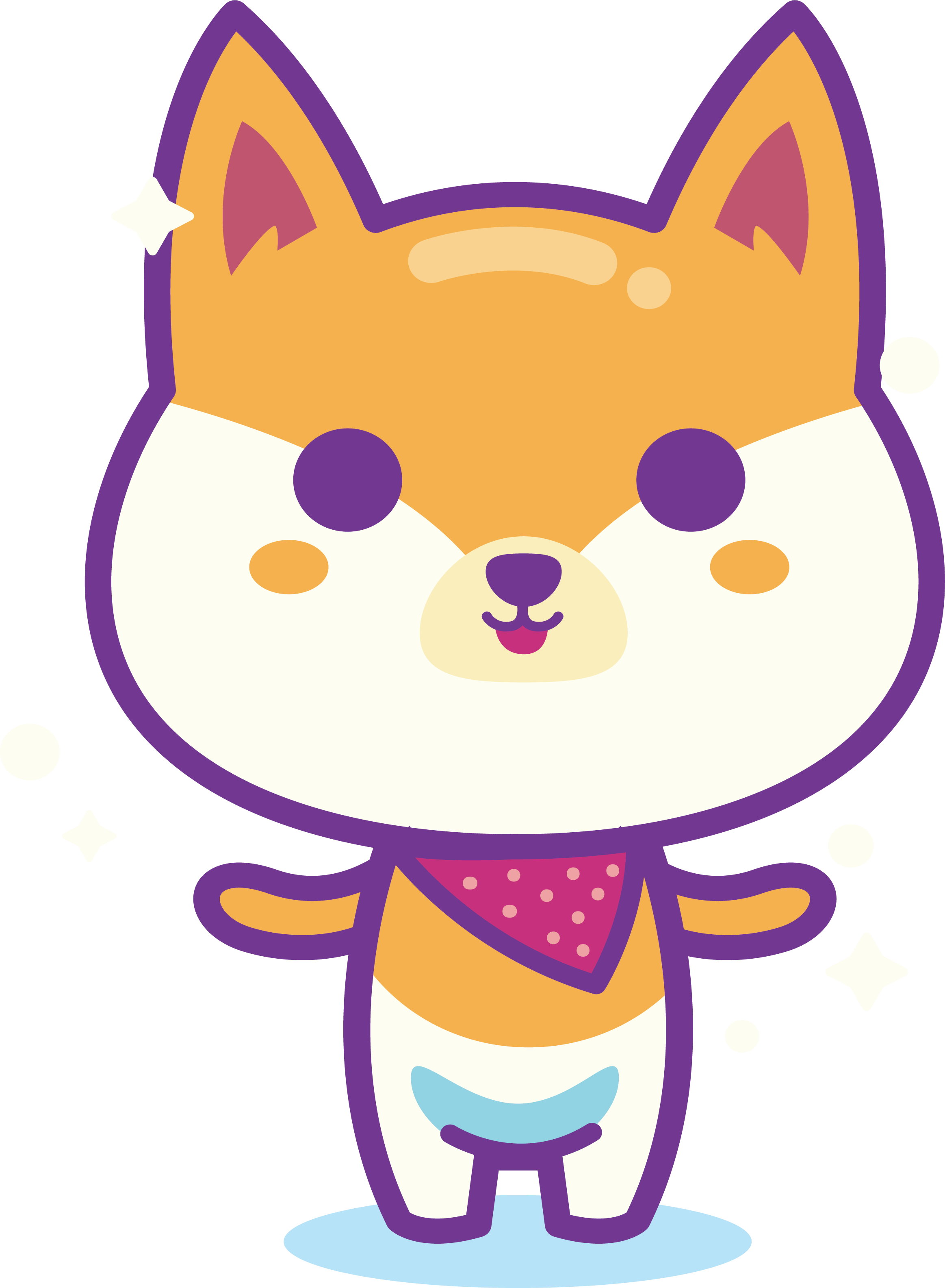Dog and cat border clipart picture free library Shiba Inu Puppy Whiskers Cartoon Clip art - Cute dog 2326*3168 ... picture free library