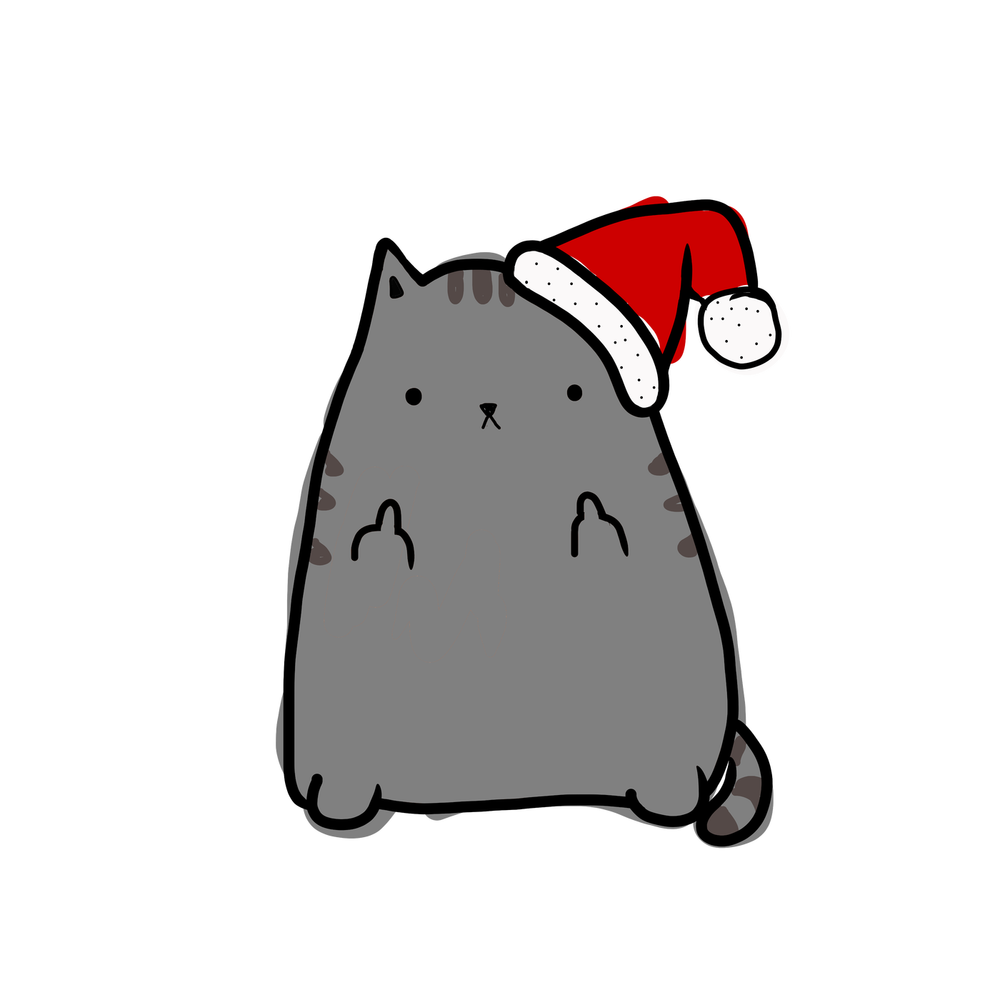 Dog and cat christmas clipart clip library stock So I put my cat drawing on shirts and sweaters – One Weird Dude's ... clip library stock