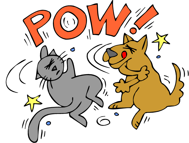 Dog and cat fighting clipart graphic freeuse stock FIGHTS - elbow | Schoolhouse Rock | Pinterest | Schoolhouse rock graphic freeuse stock