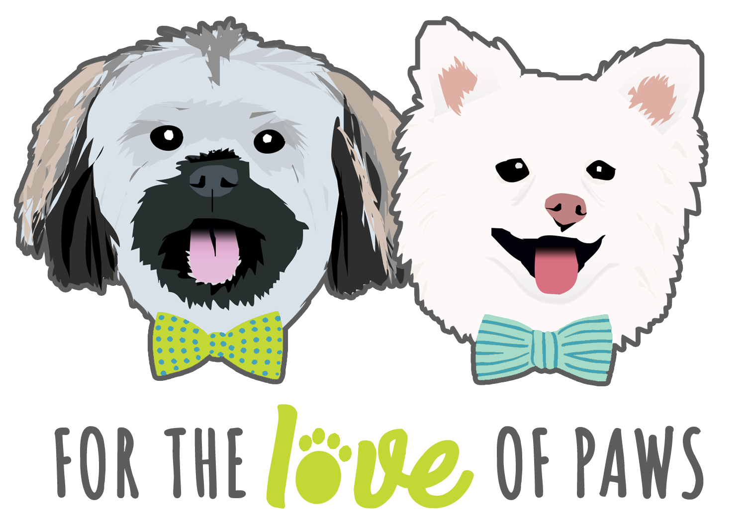 Reviews | For The Love Of Paws vector free stock