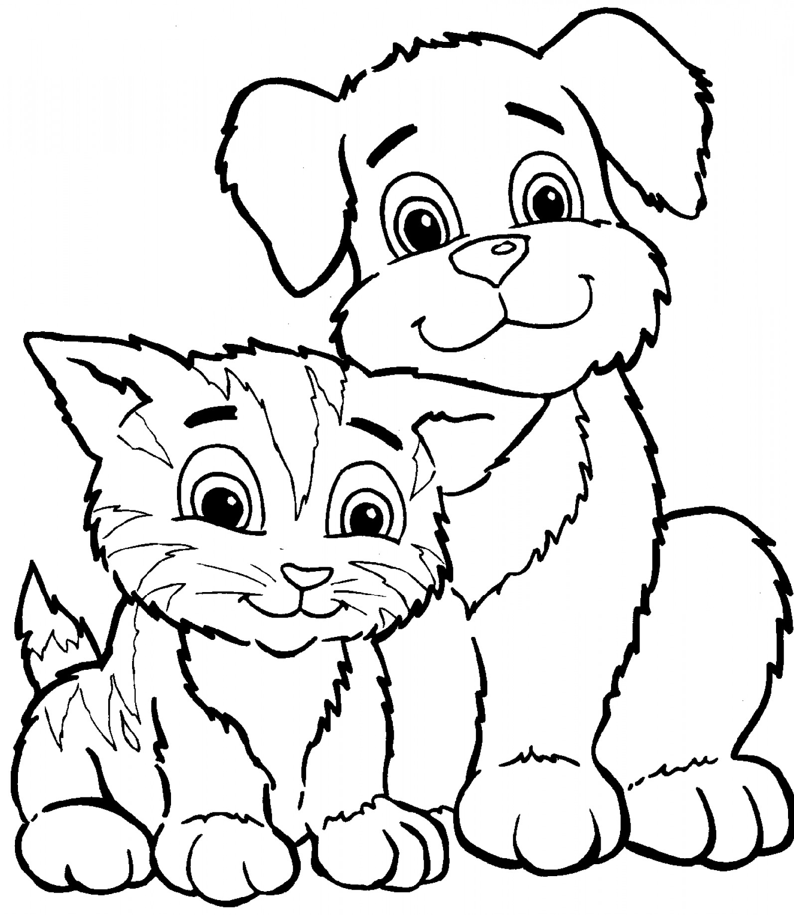 Dog and cat scenery clipart black and white svg transparent Dog And Cat Clipart Black And White (100+ images in Collection) Page 1 svg transparent