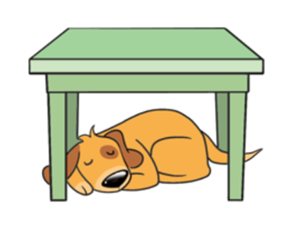 Dog and cat under the desk clipart clipart black and white library Under The Desk Clipart clipart black and white library